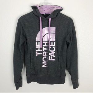 NORTH FACE half dome gray hoodie | XS
